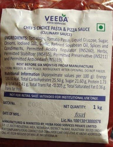 Veeba Chef's Choice Pasta & Pizza Sauce 1kg