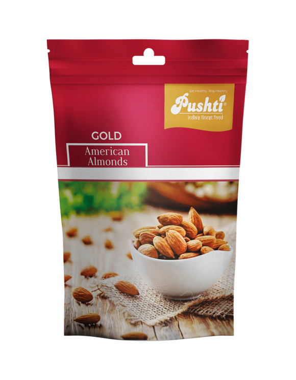 Pushti gold american almonds 250gm