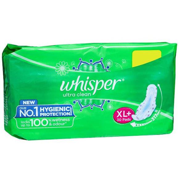 Whisper Ultra Clean XL+ 30 Pads