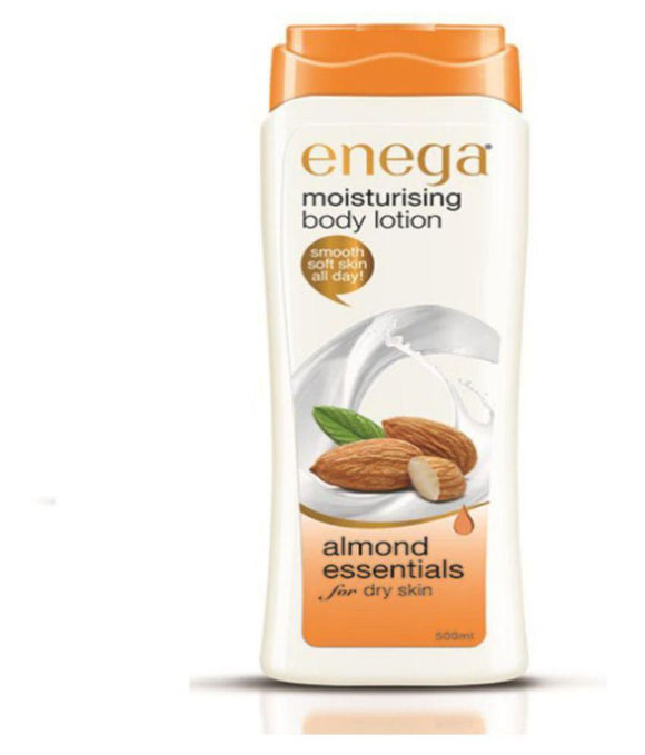 Enega Moisturizing Body Lotion Almond Essentials For Dry Skin 300ML