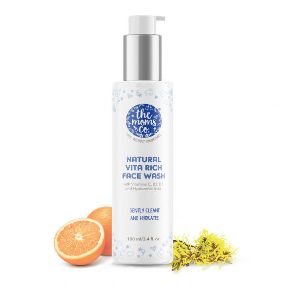 the moms co natural vita rich face wash 50ml