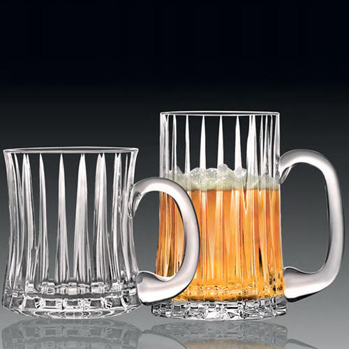 Solitaire Crystal Beer Mug 602S/601S/603S 2Pc