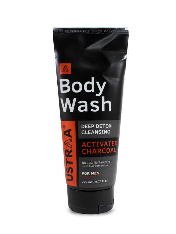 Ustraa Body Wash Deep Detox Cleansing Activated Charcoal  200ml