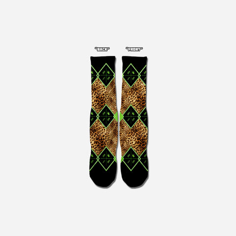 M.O.M. Leopard Diamond Socks