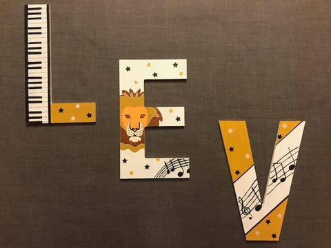 Animal Capital Wall Letters