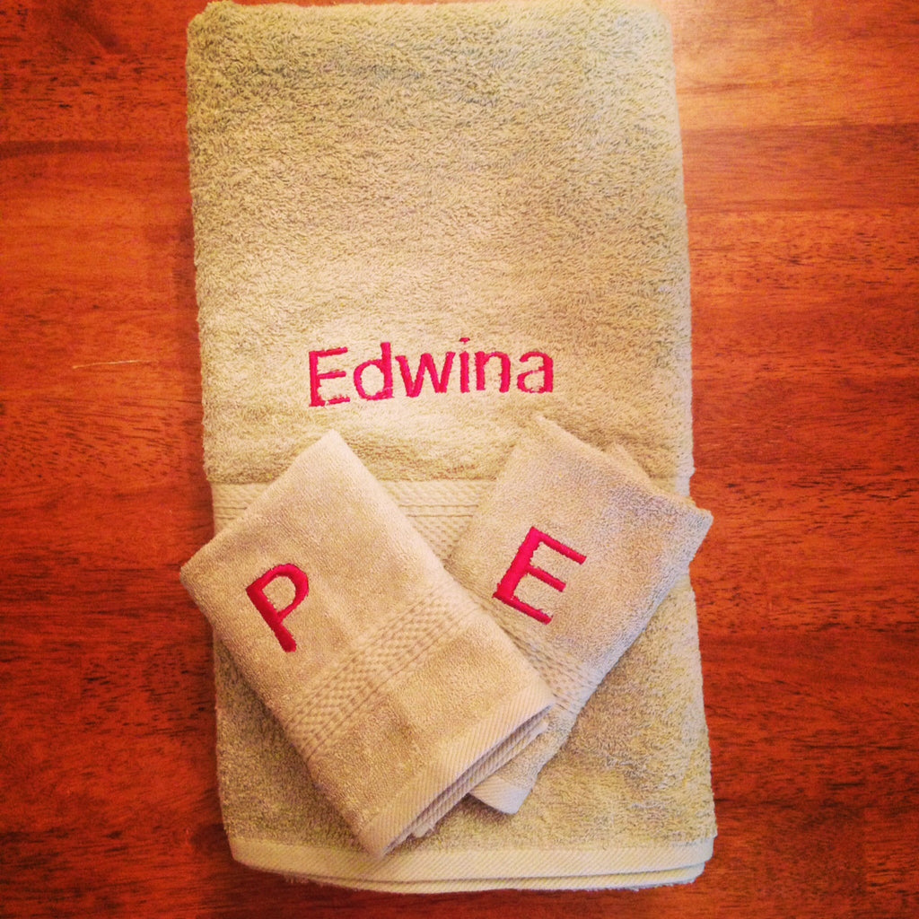Personlized Towel set