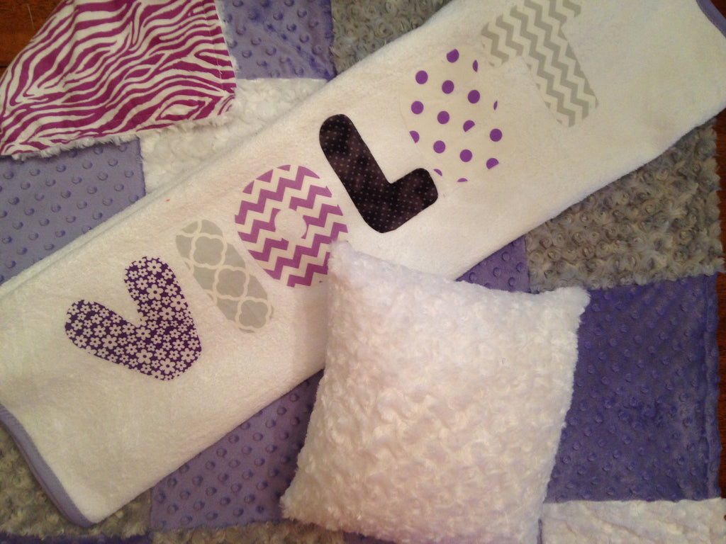 Pillow, blanket, and towel set