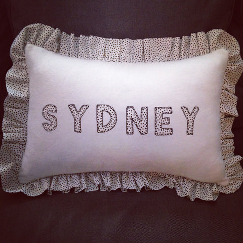Personlized Ruffle Pillow