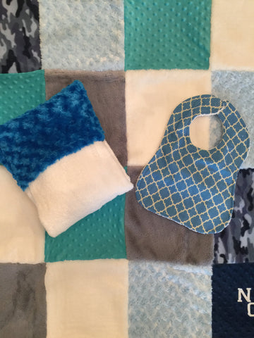 Quilt, towel and bib set