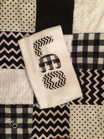 Black and white mix quilt