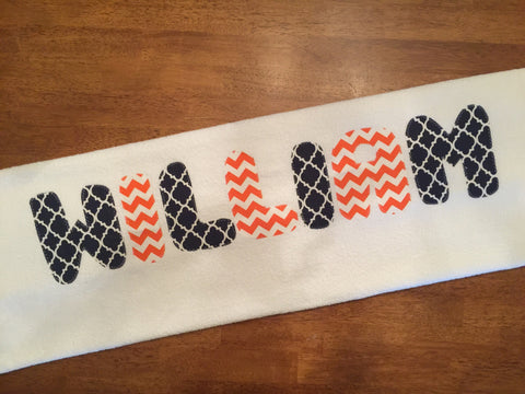 Navy Orange modern twist