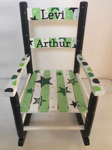 Stars and Dots Rocking Chair