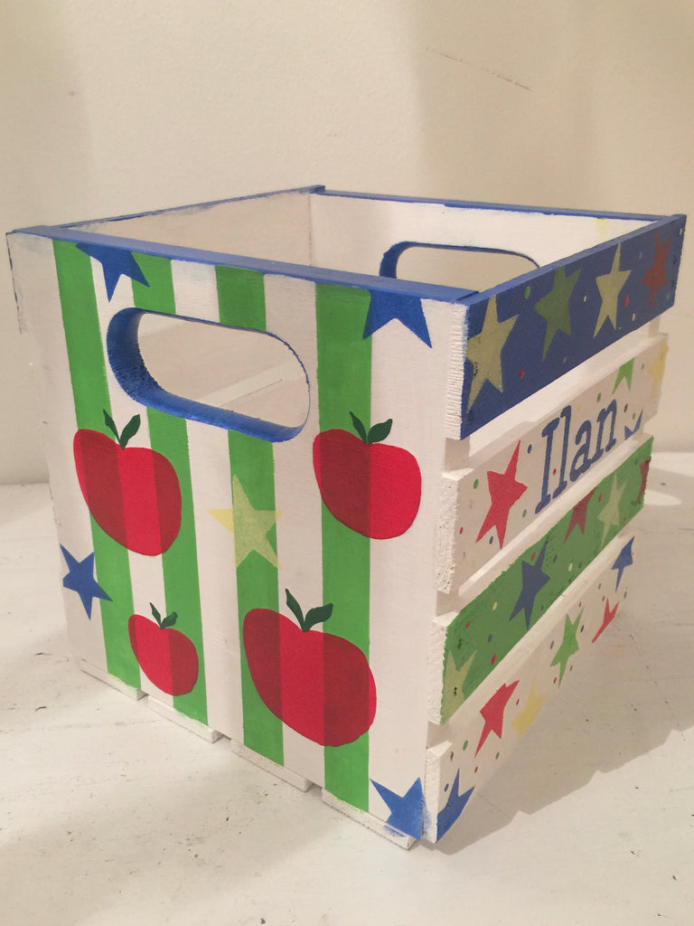 Apples Theme Book Bin