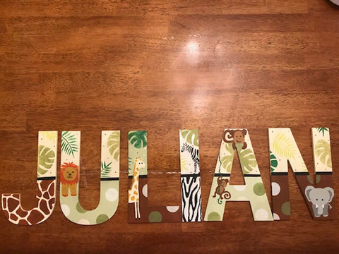 Jungle Capital Wall Letters