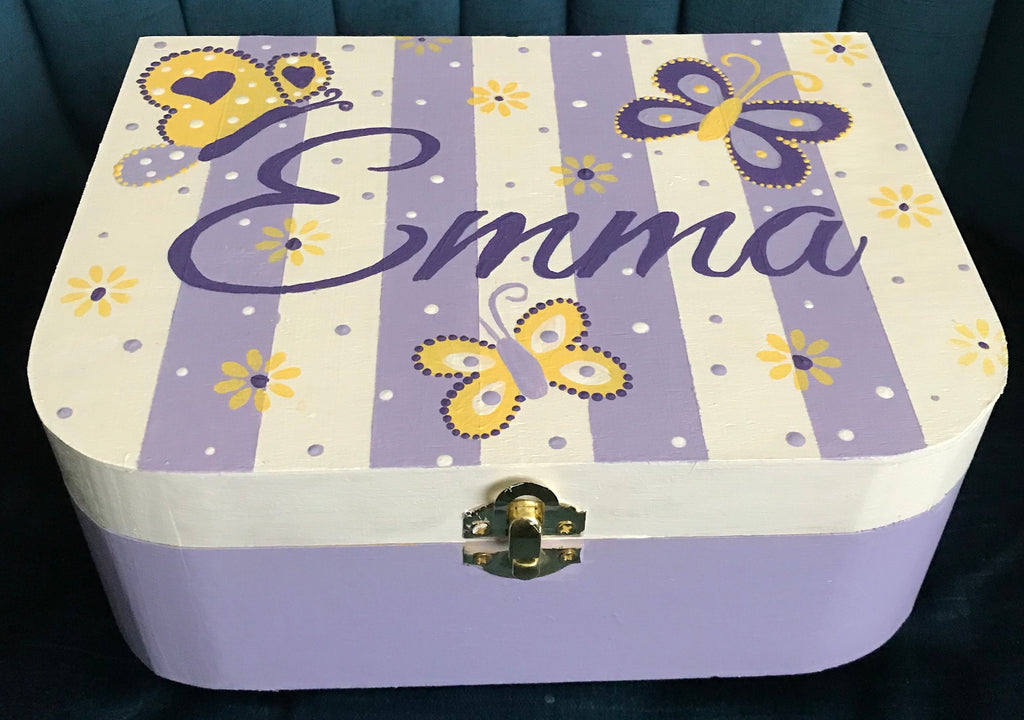 Purple Butterflies Jewelry Box