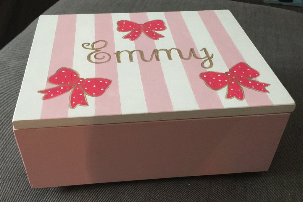 Stripes & Bows Jewelry Box