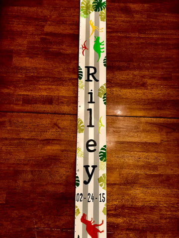 Dinosaur Jungle Growth Chart