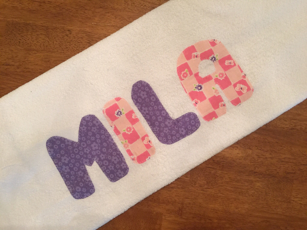 Butterfly and flower towel