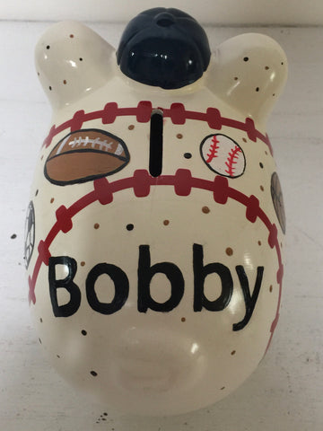 Baseball Piggy Bank