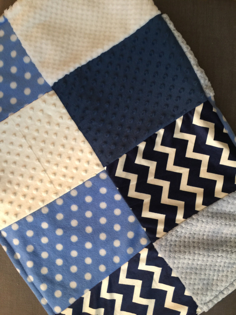 Chevron and polka dot quilt