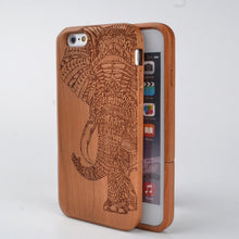 Load image into Gallery viewer, Elephant Solid Wood iPhone Case