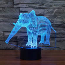Load image into Gallery viewer, Night Light  LED Light 7 Color with Touch Switch USB Cable