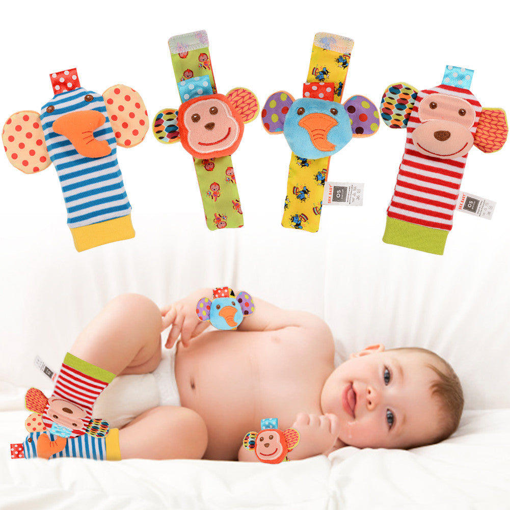 Baby Educational Toys Monkey and Elephant (4 in a set)