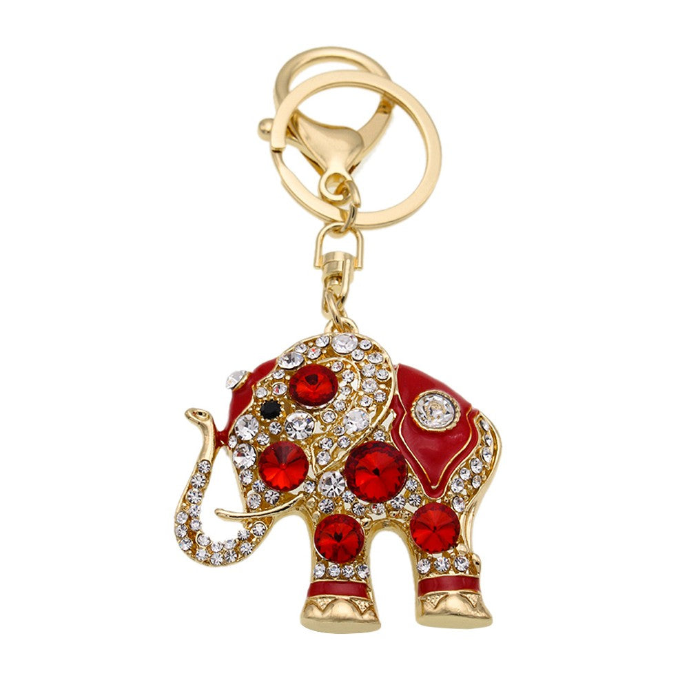 Elephant Zinc Alloy Rhinestone Key Chain