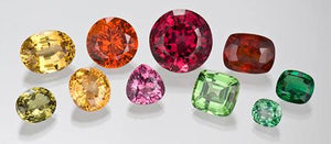 Colorful Garnets, Birthstone for January