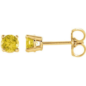 14k Yellow Sapphire Earrings