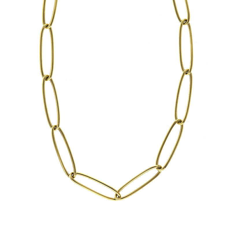 14K Yellow Gold Oval Link Gold Chain