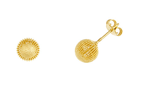 14K Gold Filigree Ball Earrings, SOLD