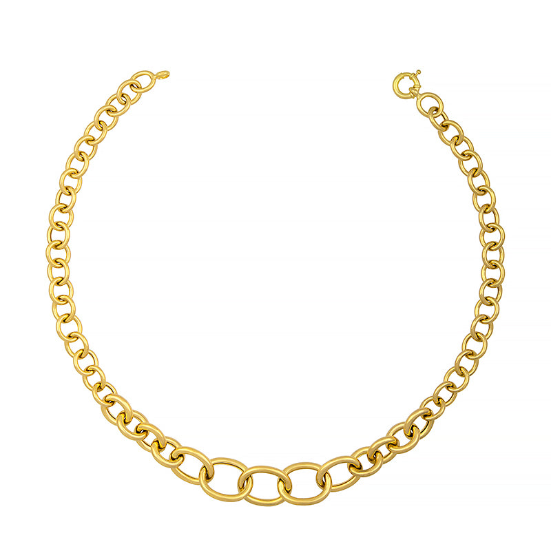 14K Gold Graduated Link Necklace, SOLD