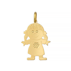14k Gold Girl Charm, SOLD