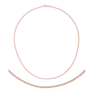 14K Rose Gold Cable Link Chain
