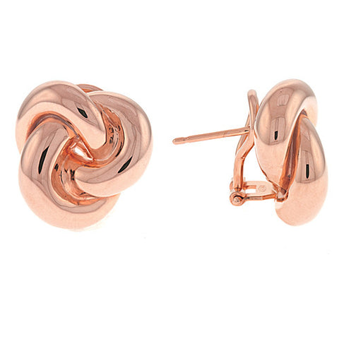 14K Rose Gold Knot Earrings