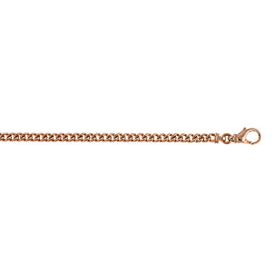 14K Rose Gold Solid Link Chain, SOLD