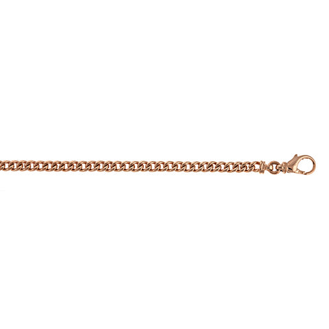 Italian Pink Gold Elongated Cable Link Chain