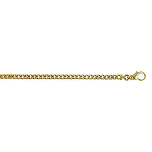 14K Gold Solid Curb Link Chain