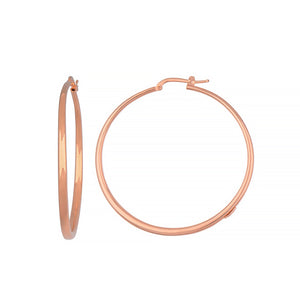 14K Rose Gold Hoop Earrings, SOLD