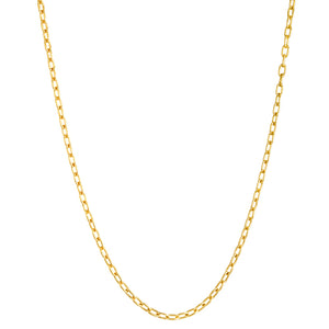 Solid Yellow Gold Oval Link Chain