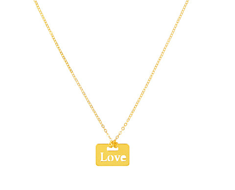 14K Gold Love Necklace, SOLD