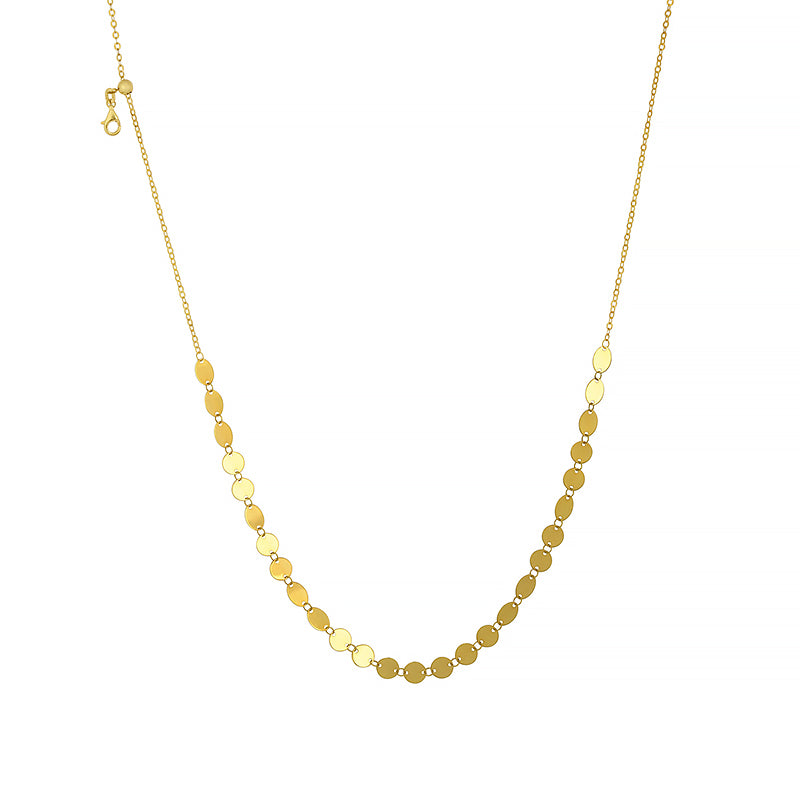 Yellow Gold Necklace with Charm Discs