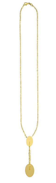 Yellow Gold Drop Necklace, SOLD