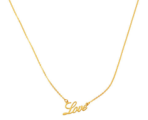 Gold Love Necklace, SOLD