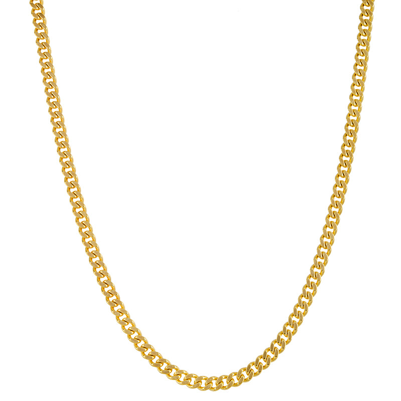 14k Wide Flat Link Chain, SOLD