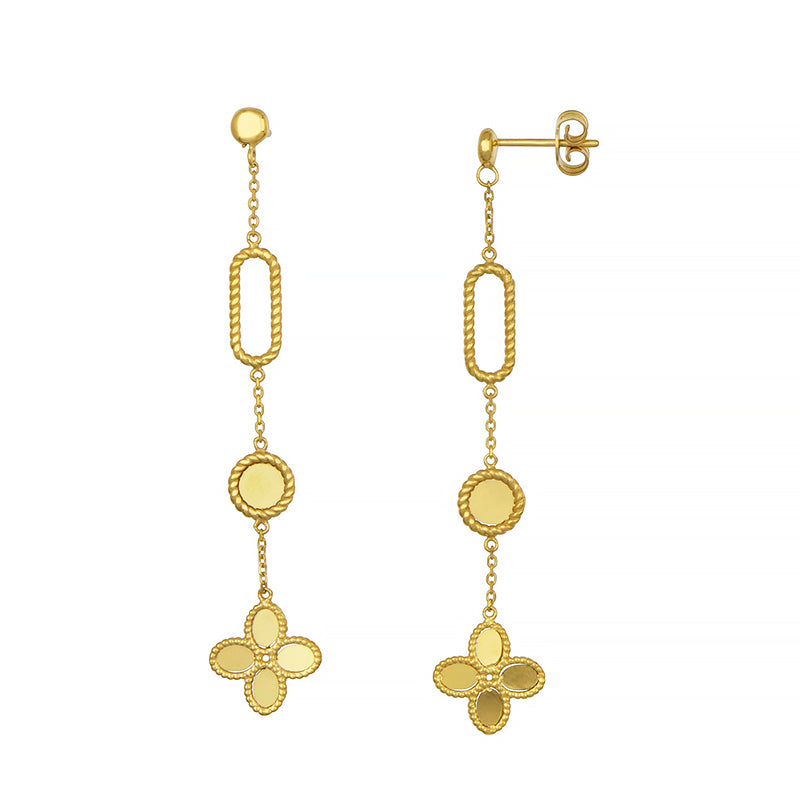 14K Gold Flower Earrings, SOLD