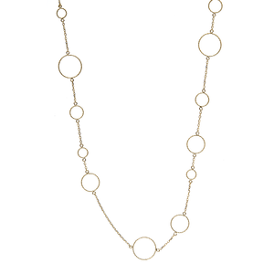 Gold  Circle Link Necklace