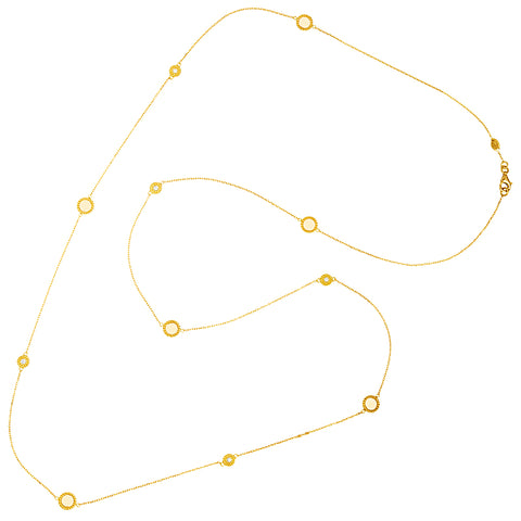 18K Long Open Link Necklace