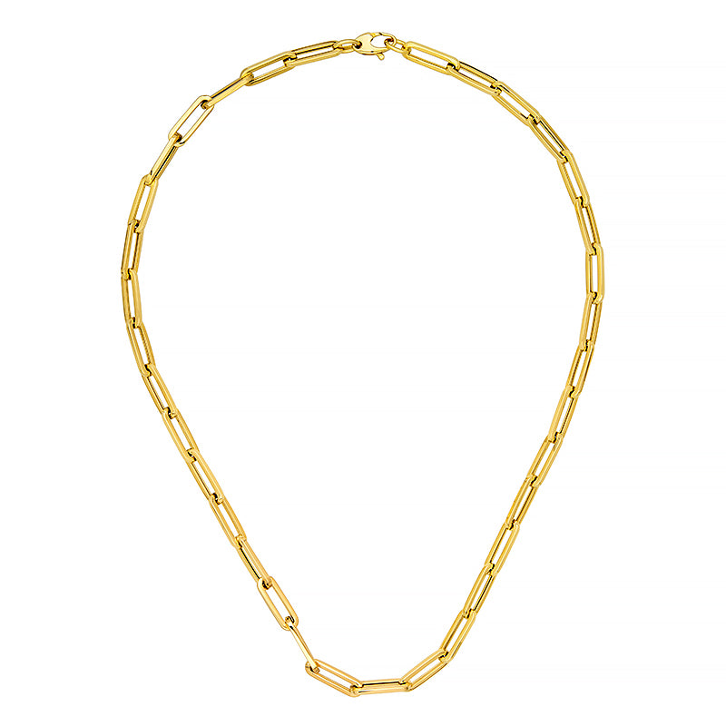 Yellow Gold Oval Link Chains